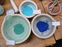 Hand prepared pigments