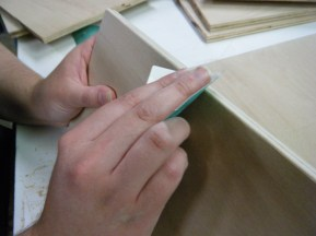 Sanding with rough paper, 120