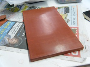 Finished bole surface allowed to dry