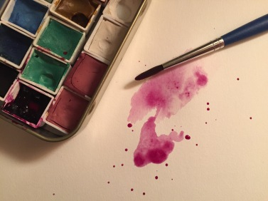 Handmade watercolour palette